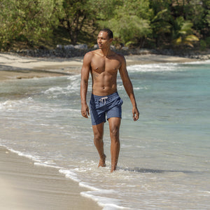 Mens swim trunks : MAKO NAVY - Mustique island style