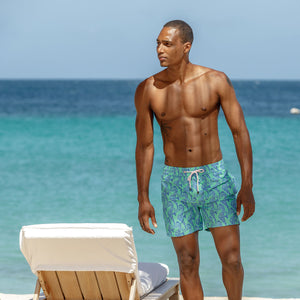 Mens Trunks (Seahorse, Green/Blue) Mustique lifestyle