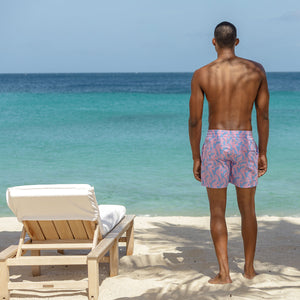 Mens Trunks (Seahorse, Blue/Pink) Mustique life