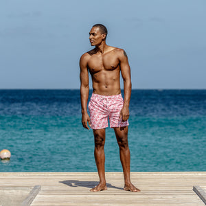 Mens Trunks (Shark, Faded Red) Mustique lifestyle