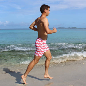 Mens Beach Shorts : MANTA RAY - RED beach life