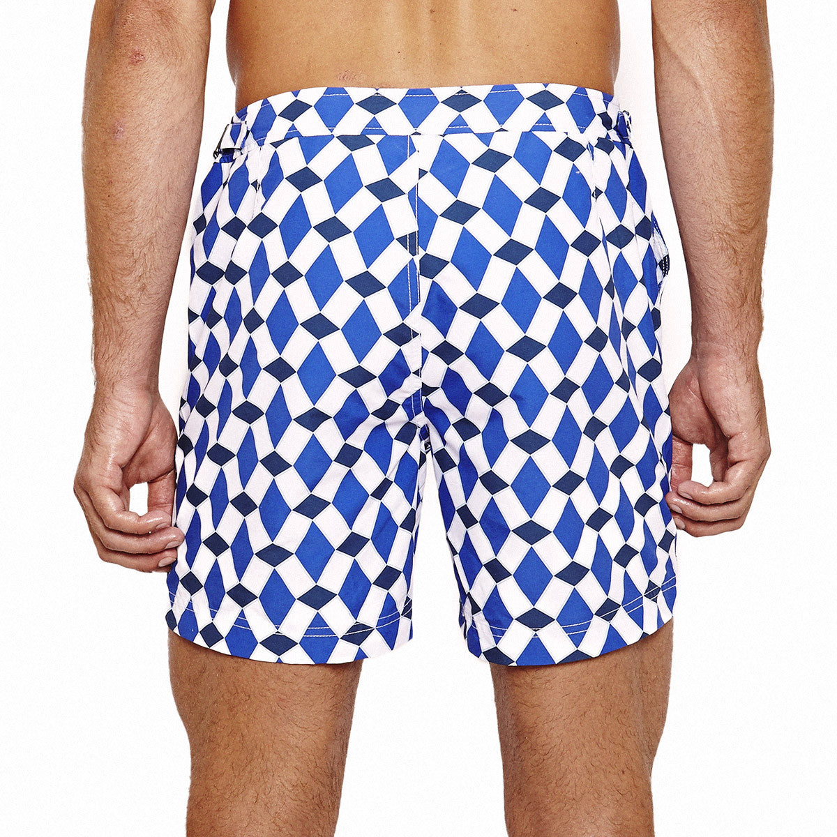 Mens Beach Shorts (Marrakech Navy) Back