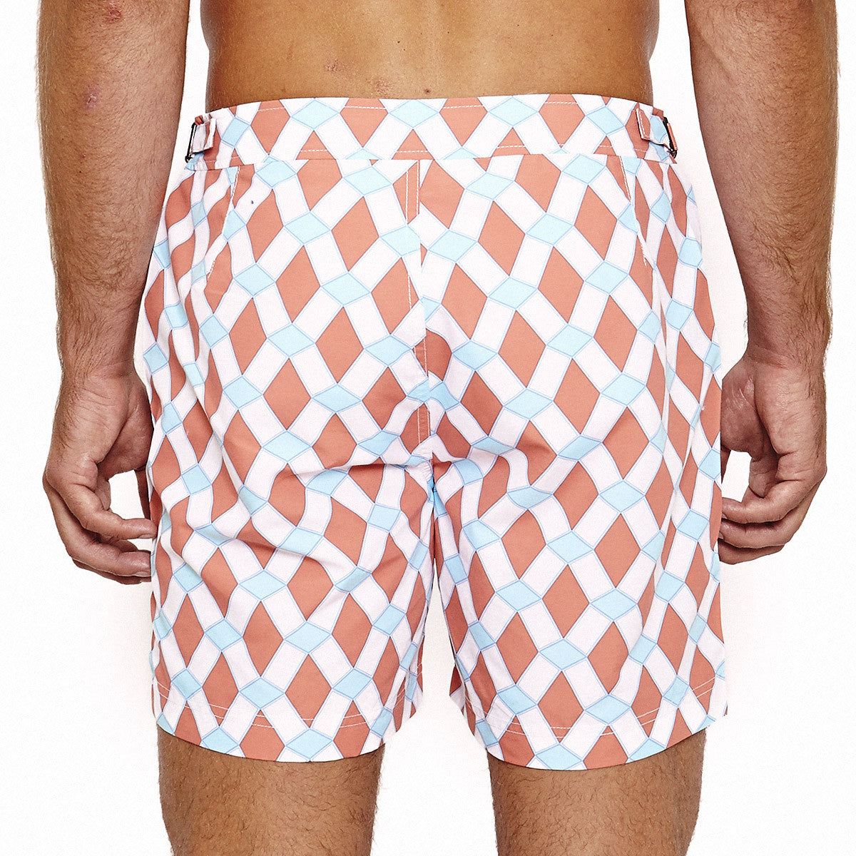 Mens Beach Shorts (Marrakech Orange) Back