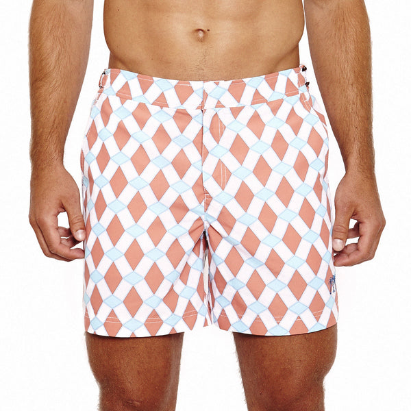 Mens Beach Shorts (Marrakech Orange) Front