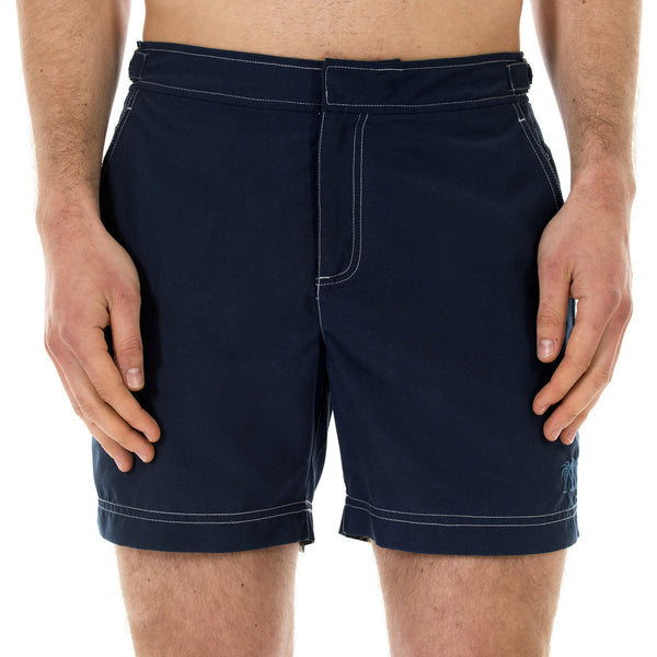 Mens Beach Shorts (Ensign Blue) Front