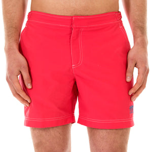 Mens Beach Shorts (Faded Red) Front