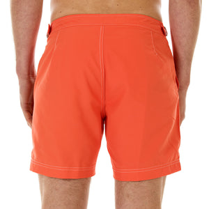 Mens Beach Shorts (Orange) Back