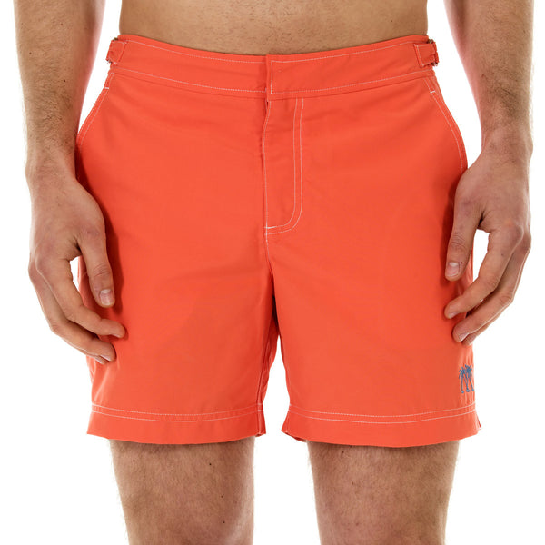 Mens Beach Shorts (Orange) Front