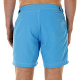 Mens Beach Shorts (Turquoise) Back