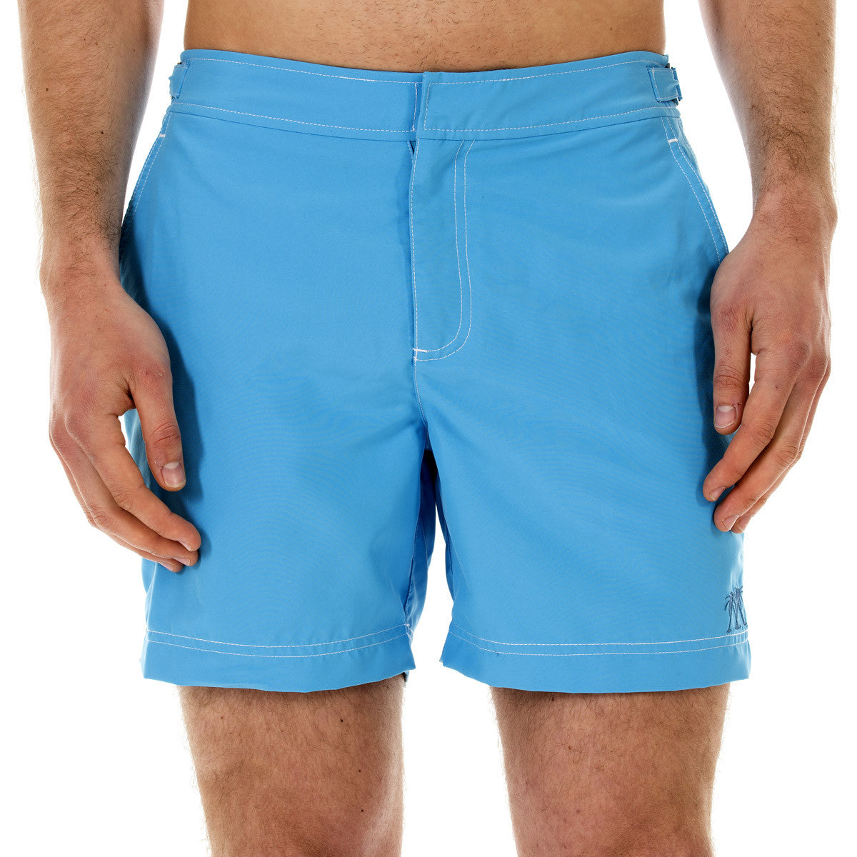 Mens Beach Shorts (Turquoise) Front