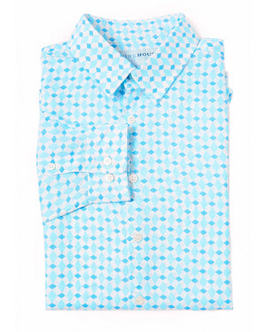 Mens Linen Shirt (Marrakech Blue)