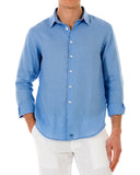 Mens Linen Shirt : FRENCH BLUE front