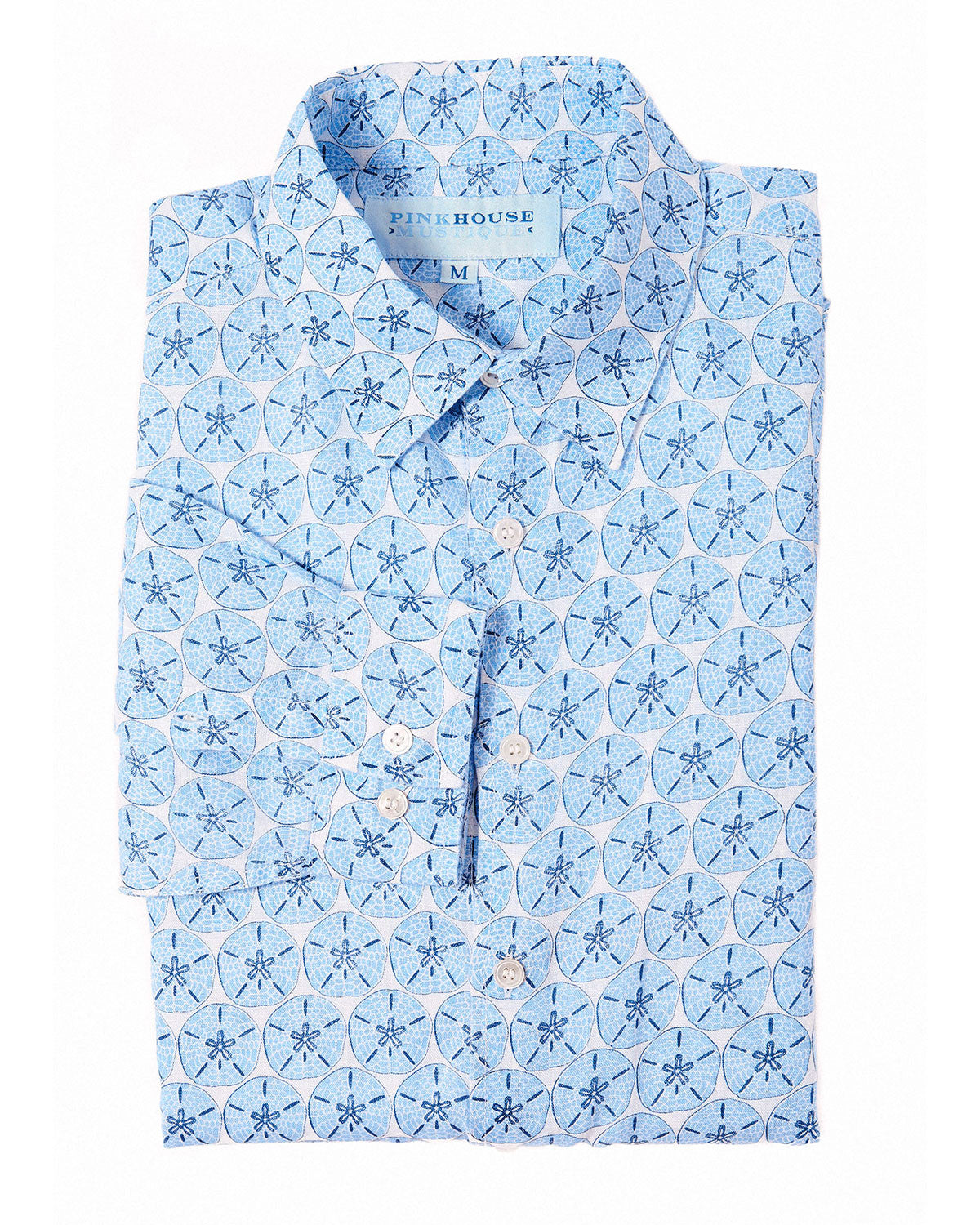 Mens Linen Shirt (Sand Dollar Blue)
