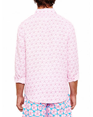 Mens Linen Shirt (Sand Dollar Pink) Back
