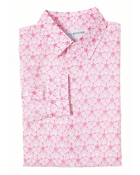 Mens Linen Shirt (Sand Dollar Pink)