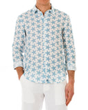 Mens Linen Shirt : SEASTAR - BLUE front
