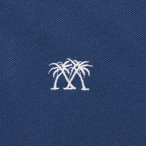 Mens Polo shirt: NAVY - WHITE MUSTIQUE applique - Mustique emblem