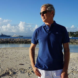 Mens Polo shirt: NAVY - Mustique style