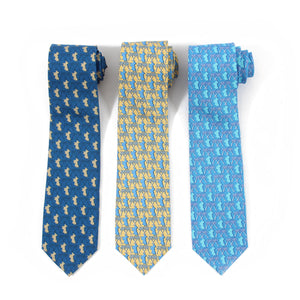 Mens Silk Tie : MUSTIQUE PALMS collection