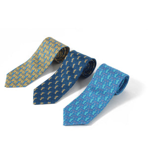 Mens Silk Tie : MUSTIQUE PALMS - 3 rolled