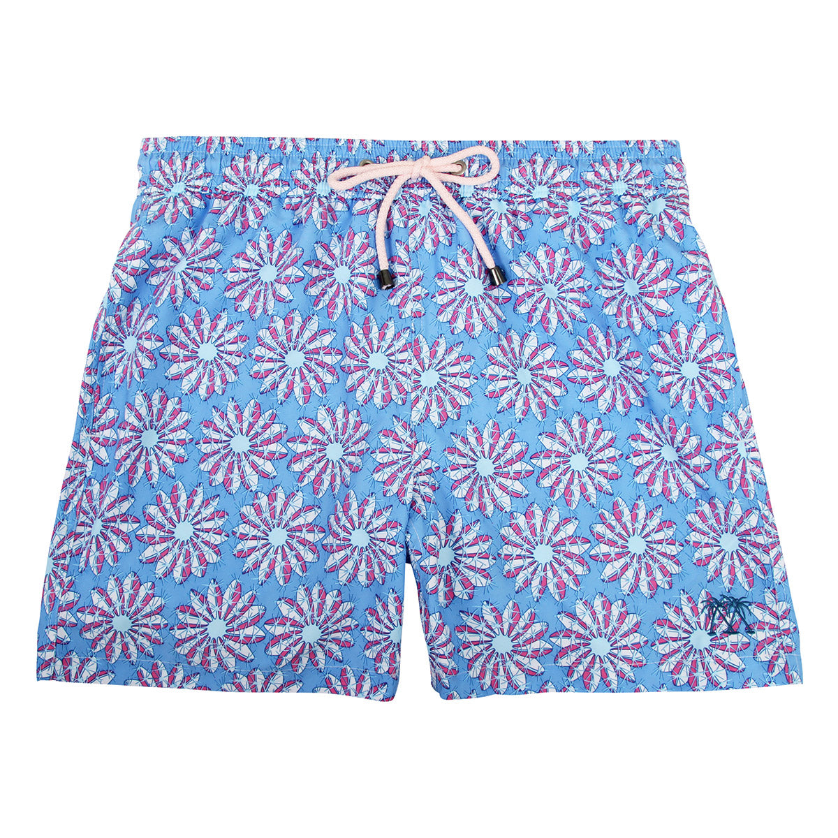 8f28facb42d35 Mens swim trunks : CACTUS - BLUE/PINK - Pink House Mustique