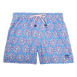Mens swim trunks : CACTUS - BLUE/PINK