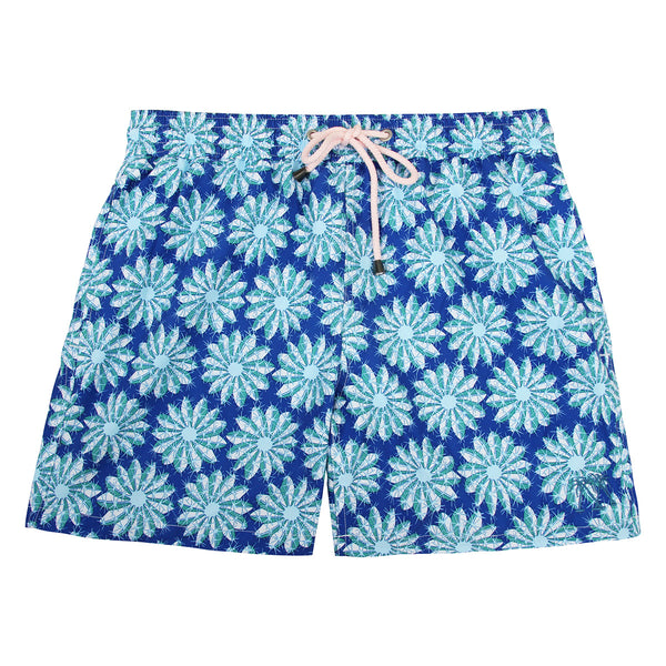 Mens swim trunks : CACTUS - NAVY/GREEN