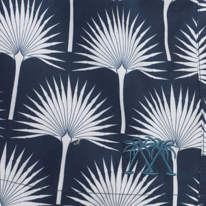 Mens swim trunks : FAN PALM - NAVY, detail