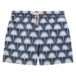 Mens swim trunks : FAN PALM - NAVY