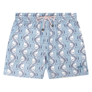 Mens swim trunks : FISH - AIRFORCE BLUE