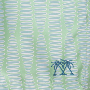 FLAMBOYANT SEED - GREEN swim fabric swatch designer Lotty B Mustique