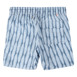 Mens swim trunks : FLAMBOYANT SEED - NAVY designer Lotty B Mustique holiday packing