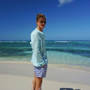 Mens swim trunks : LIFE RING - NAVY designer Lotty B Mustique holiday style