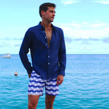 Mens Beach Shorts : MANTA RAY - NAVY life