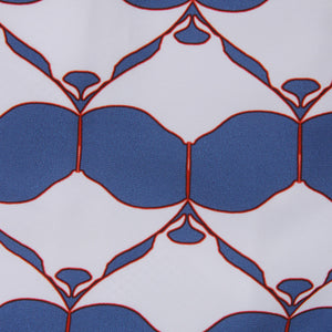 Pink House Mustique swim fabric swatch MANTA RAY NAVY