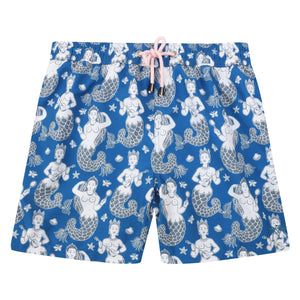 Mens swim trunks : MERMAID - NAVY