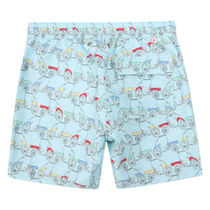 Mens swim trunks : MUSTIQUE MULE - MULTI back