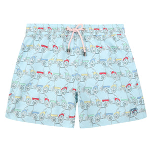 Mens swim trunks : MUSTIQUE MULE - MULTI front