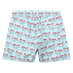 Mens swim trunks : MUSTIQUE MULE - RED back