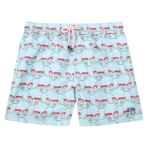 Mens swim trunks : MUSTIQUE MULE - RED front