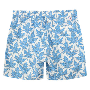 Mens swim trunks : PAPAYA - BLUE, back detail