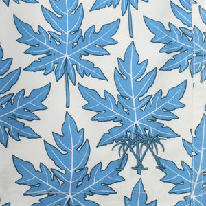 Mens swim trunks : PAPAYA - BLUE, print detail