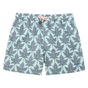 Mens swim trunks : PAPAYA - GREY PALE BLUE