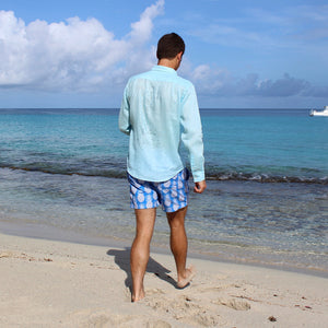 Mens swim shorts by Lotty B Mustique resort wear