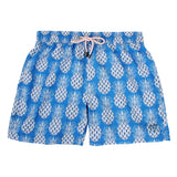 Pink House Mustique Mens swim trunks PINEAPPLE BLUE