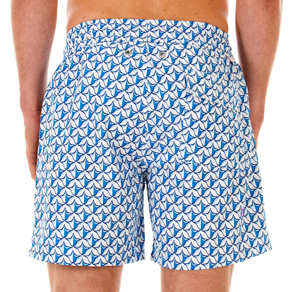 033bbad58e4 Mens swim trunks   PINEAPPLE PRICKLES - BLUE - Pink House Mustique