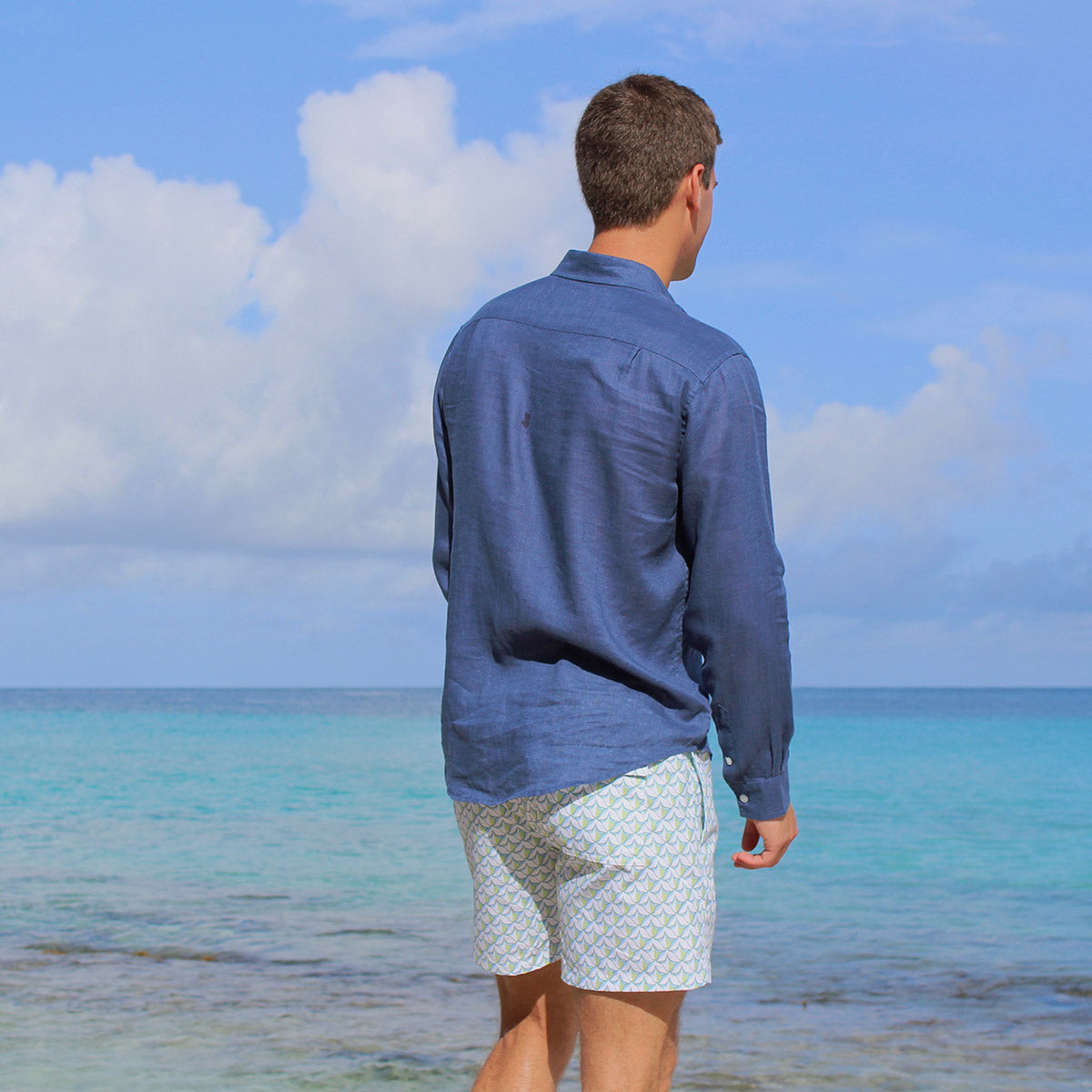 Mens swim trunks : PINEAPPLE PRICKLES - OLIVE life