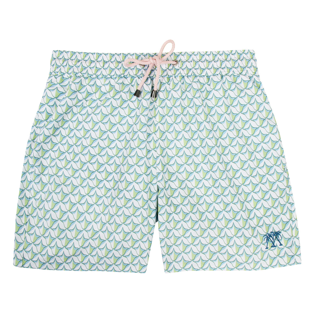 9d4cd56421a50 Mens swim trunks : PINEAPPLE PRICKLES - OLIVE - Pink House Mustique