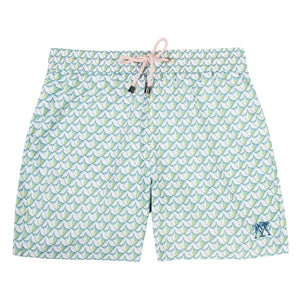 Mens swim trunks : PINEAPPLE PRICKLES - OLIVE