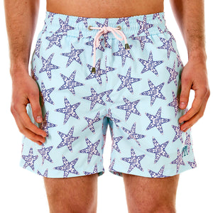 Mens swim trunks : SEASTAR - NAVY/TURQUOISE front
